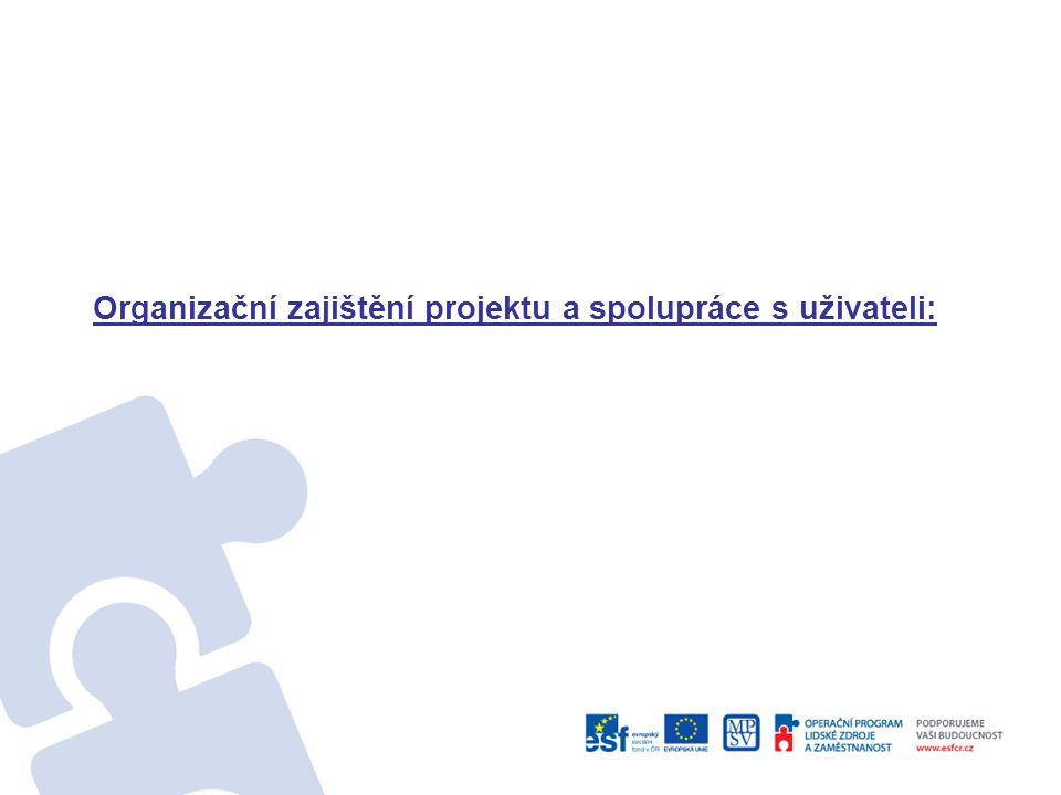 Organizační zajištění projektu a spolupráce s uživateli: