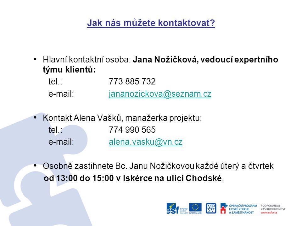 Jak nás můžete kontaktovat.