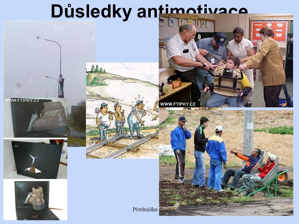12/2012Přednáška č. 44 Důsledky antimotivace