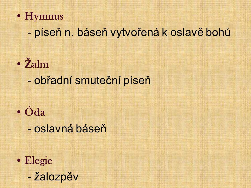 Hymnus - píseň n.