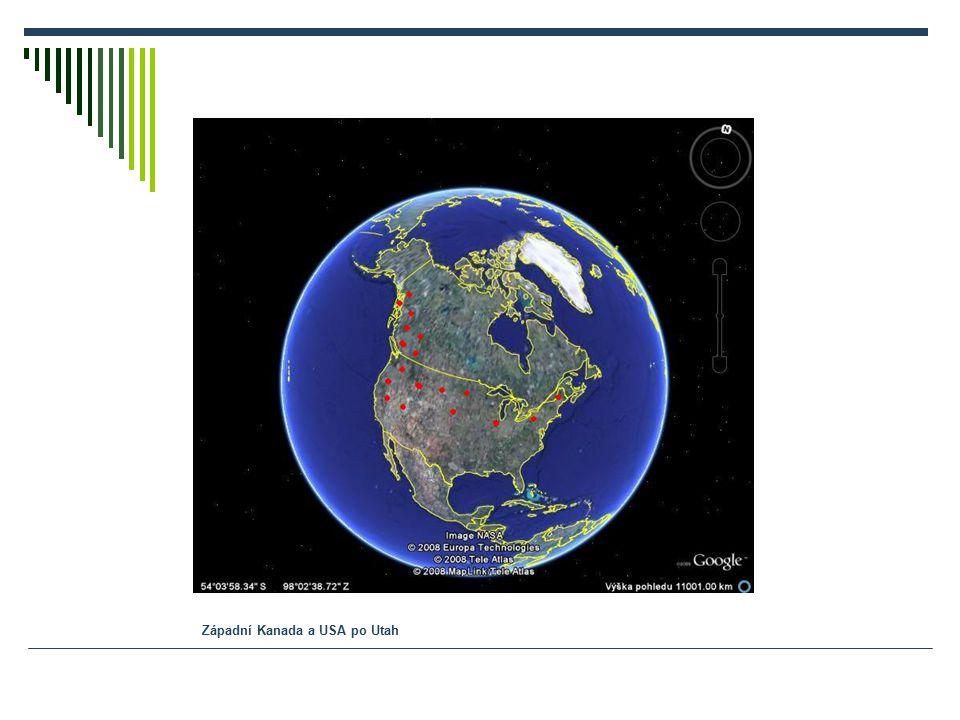 Západní Kanada a USA po Utah