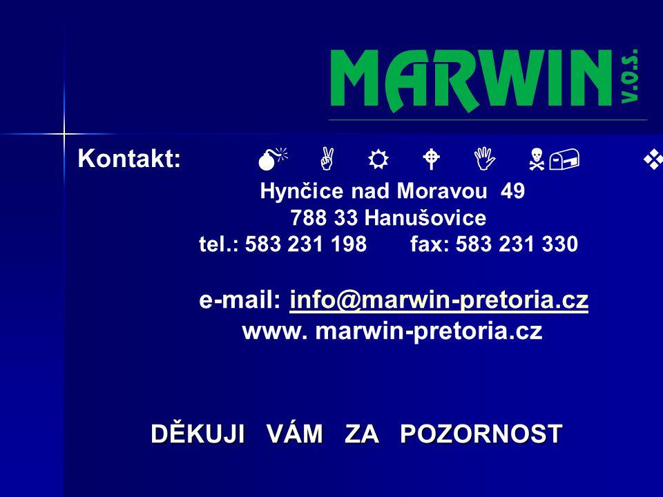 Kontakt: M A R W I N, v.o.s.