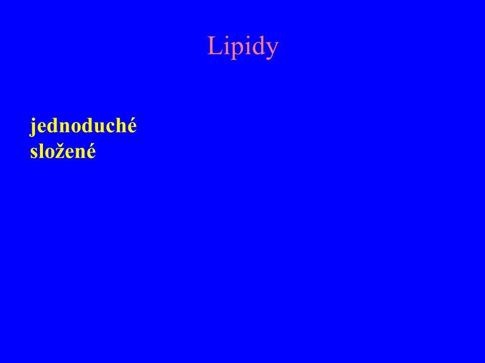 Lipidy jednoduché složené