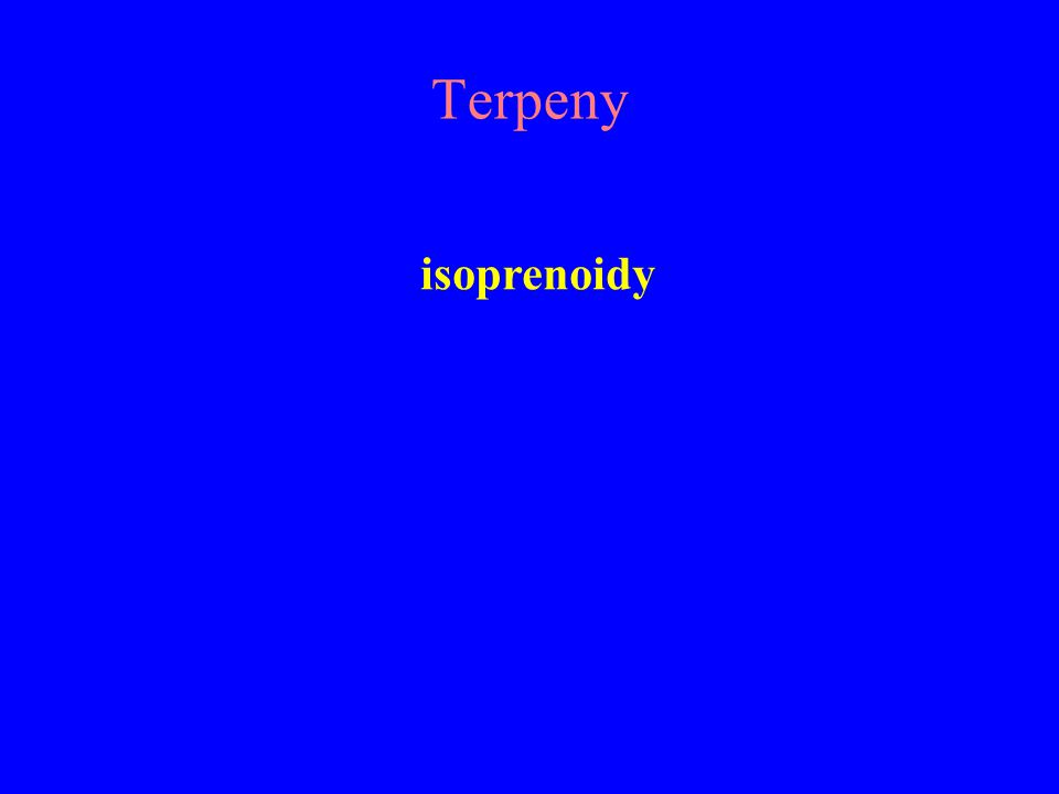 Terpeny isoprenoidy