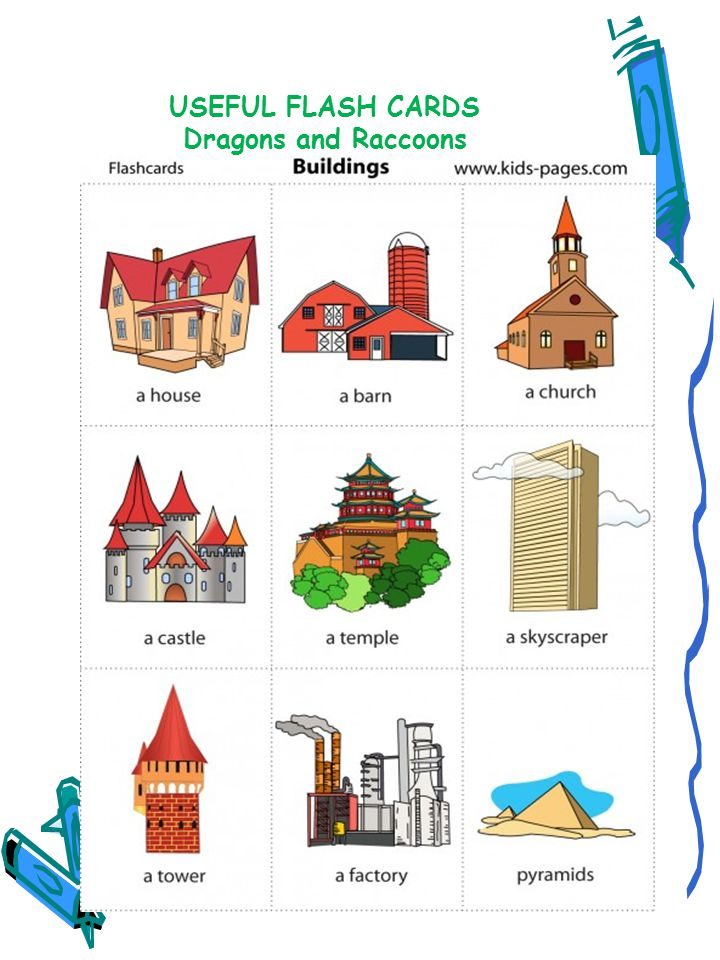 USEFUL FLASH CARDS Dragons and Raccoons