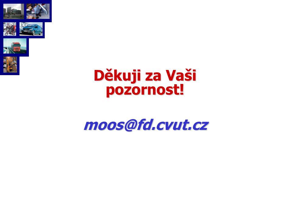 Děkuji za Vaši pozornost! moos@fd.cvut.cz