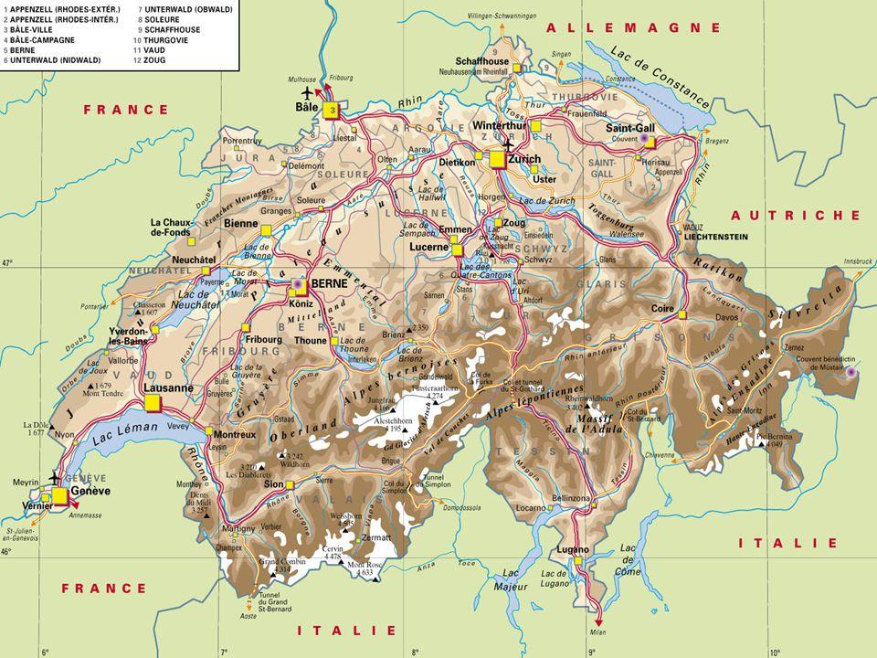Základní informace: Hlavní město:Bern Rozloha:41 285 km² (132.