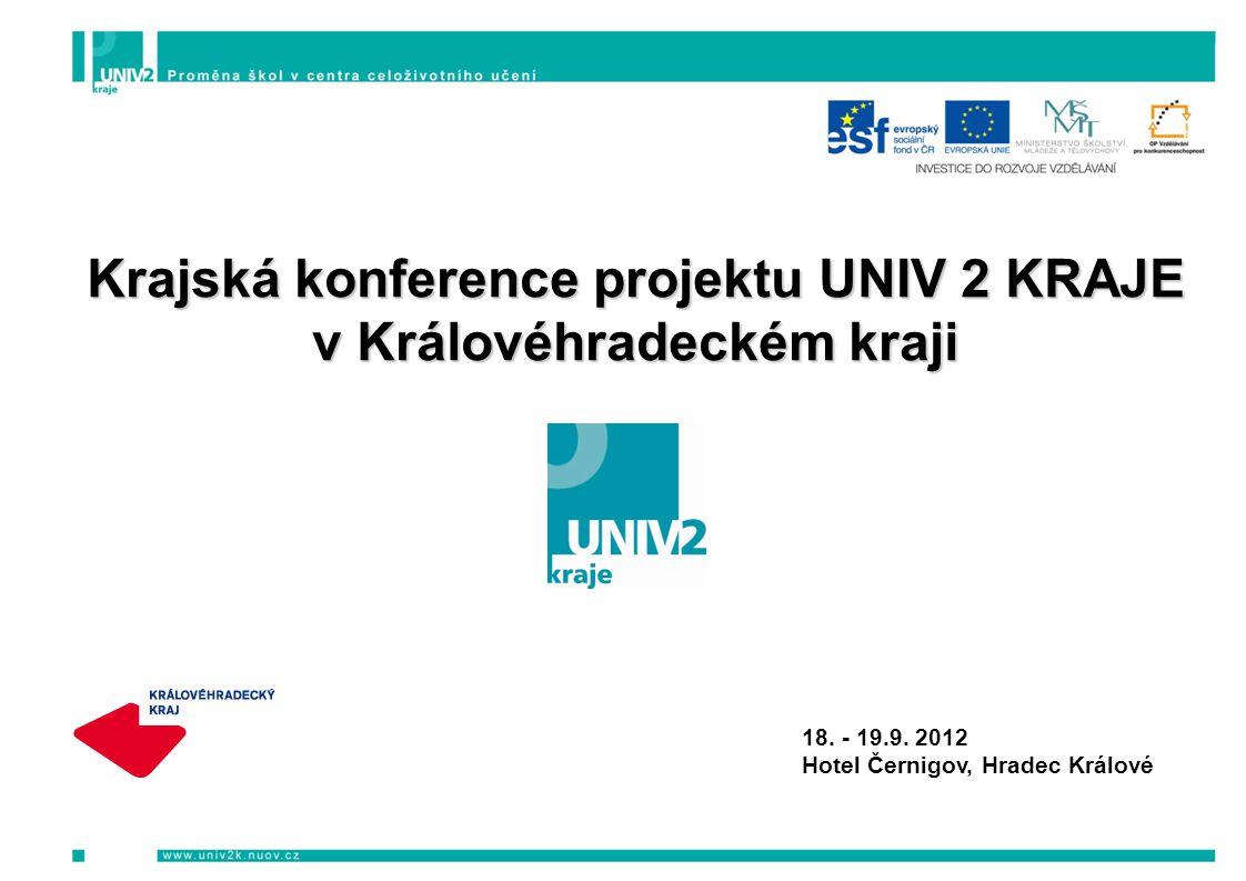 Krajská konference projektu UNIV 2 KRAJE v Královéhradeckém kraji 18.
