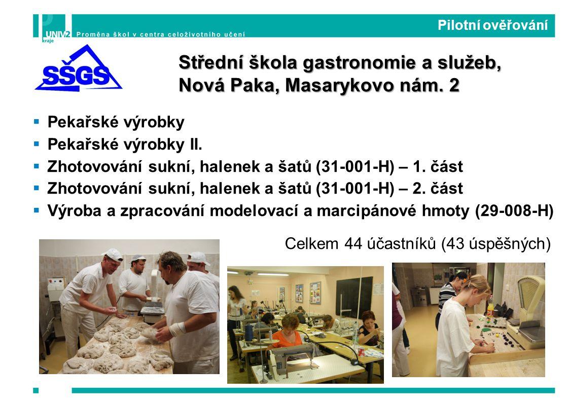  Pekařské výrobky  Pekařské výrobky II.  Zhotovování sukní, halenek a šatů (31-001-H) – 1.