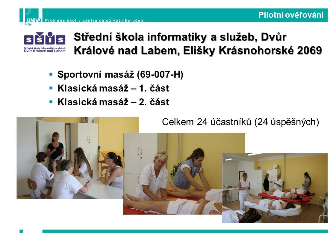  Sportovní masáž (69-007-H)  Klasická masáž – 1.