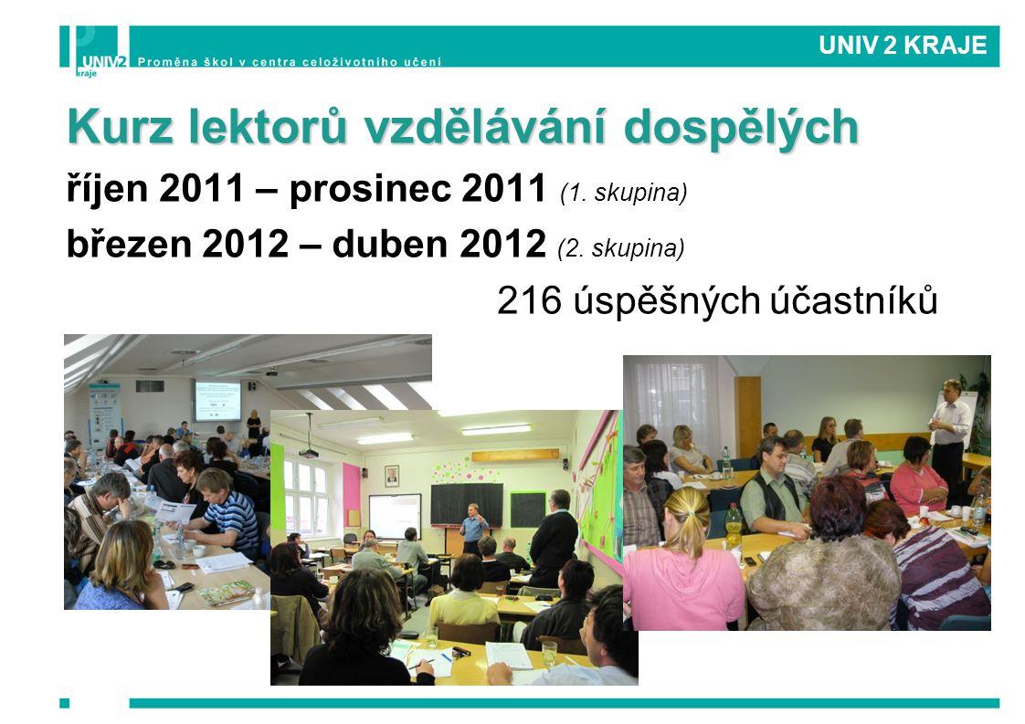 Kurz lektorů vzdělávání dospělých říjen 2011 – prosinec 2011 (1.