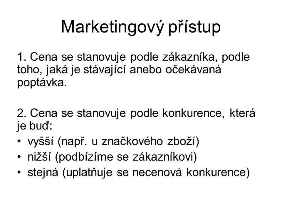 Marketingový přístup 1.