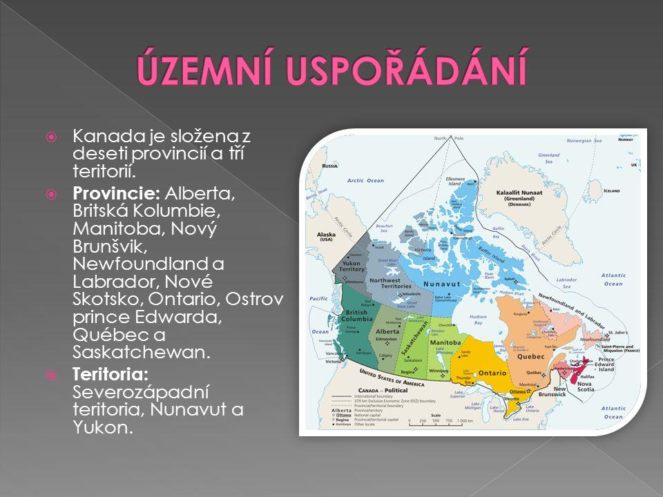  60% Anglokanaďané, 30% Frankokanaďané, 10% potomci indiánů a Eskymáků (Inuité, hlavně v teritoriu Nunavut).