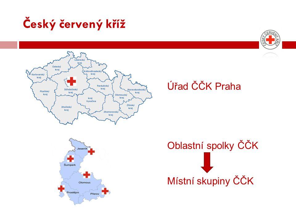 Český červený kříž Úřad ČČK Praha Oblastní spolky ČČK Místní skupiny ČČK