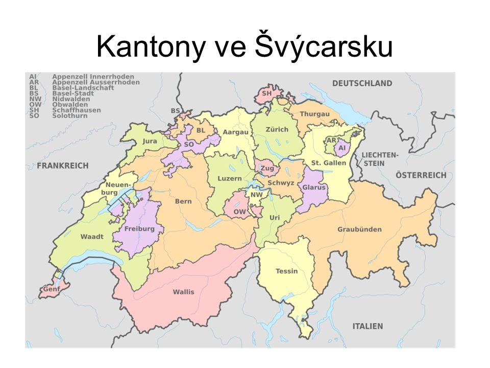 Kantony ve Švýcarsku