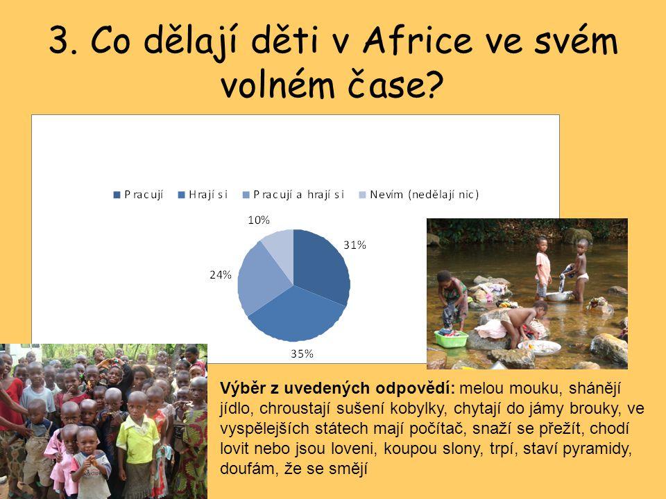 3.Co dělají děti v Africe ve svém volném čase.