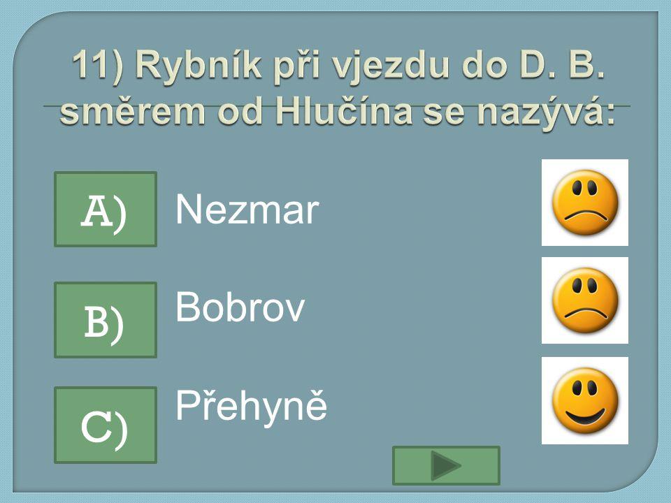 Nezmar Bobrov Přehyně A) B) C)