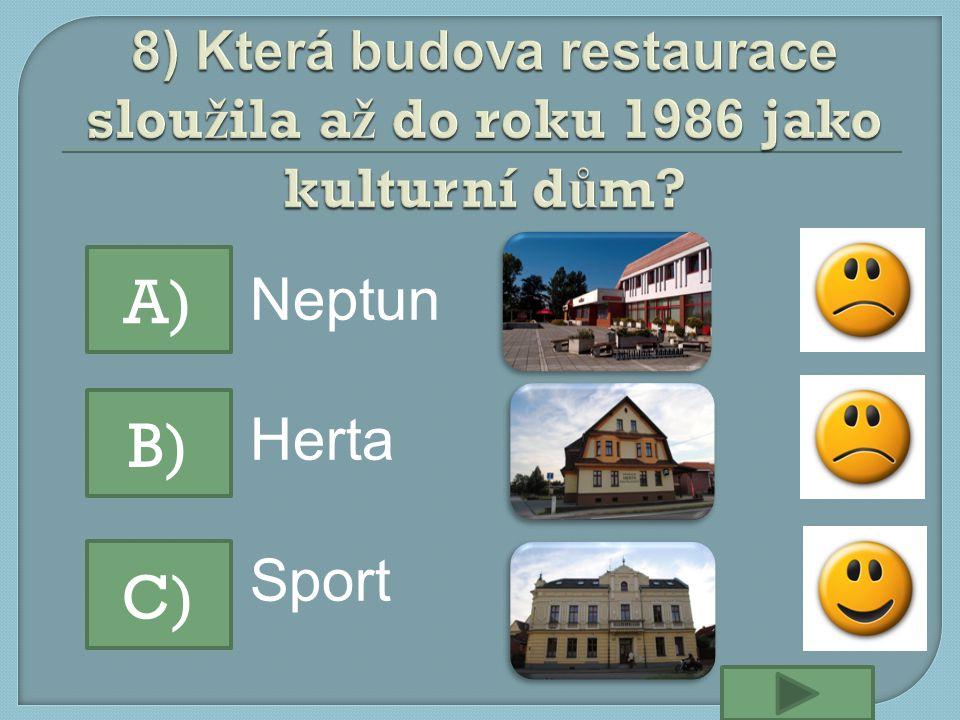 Neptun Herta Sport A) B) C)