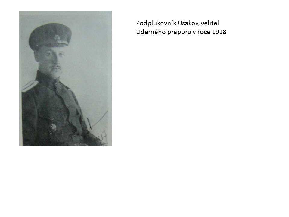 Podplukovník Ušakov, velitel Úderného praporu v roce 1918