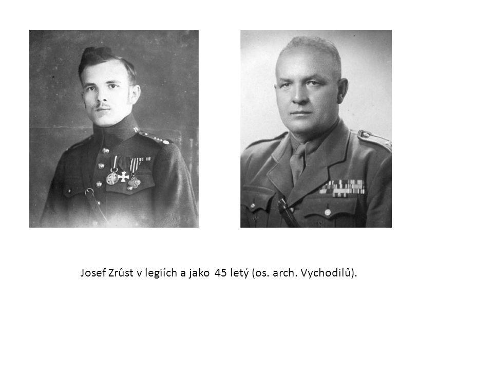 Josef Zrůst v legiích a jako 45 letý (os. arch. Vychodilů).
