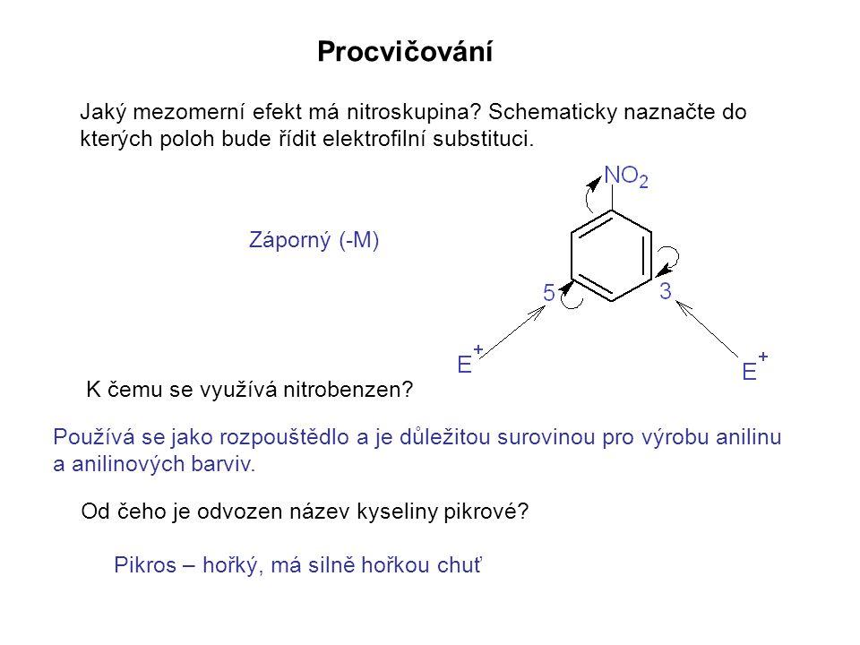 Napište rovnicí redukci nitrobenzenu v kyselém prostředí.