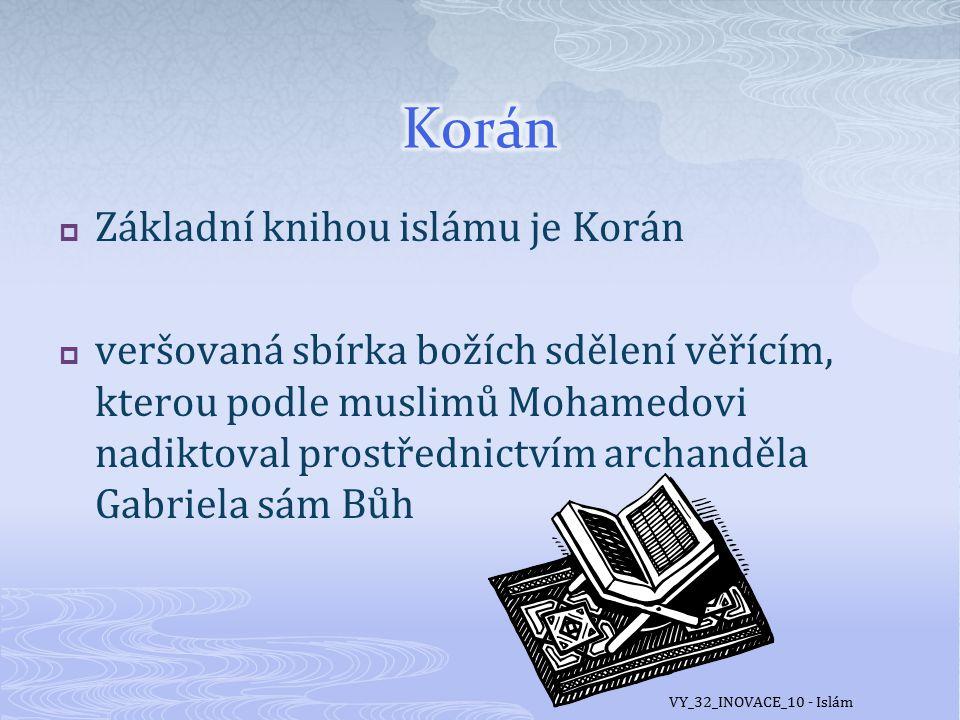  http://www.islamweb.cz/koran/index.php VY_32_INOVACE_10 - Islám