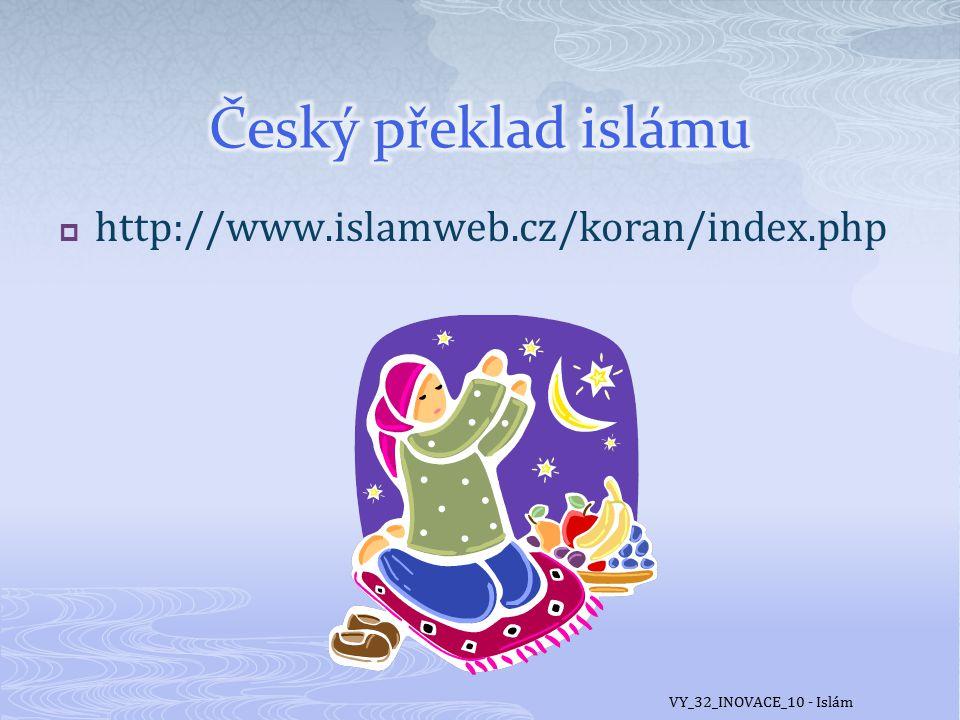  Islám v Česku není příliš zastoupen, na rozdíl od zemí západní Evropy.