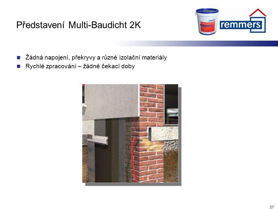 Představení Multi-Baudicht 2K Žádná napojení, překryvy a různé izolační materiály Rychlé zpracování – žádné čekací doby 27
