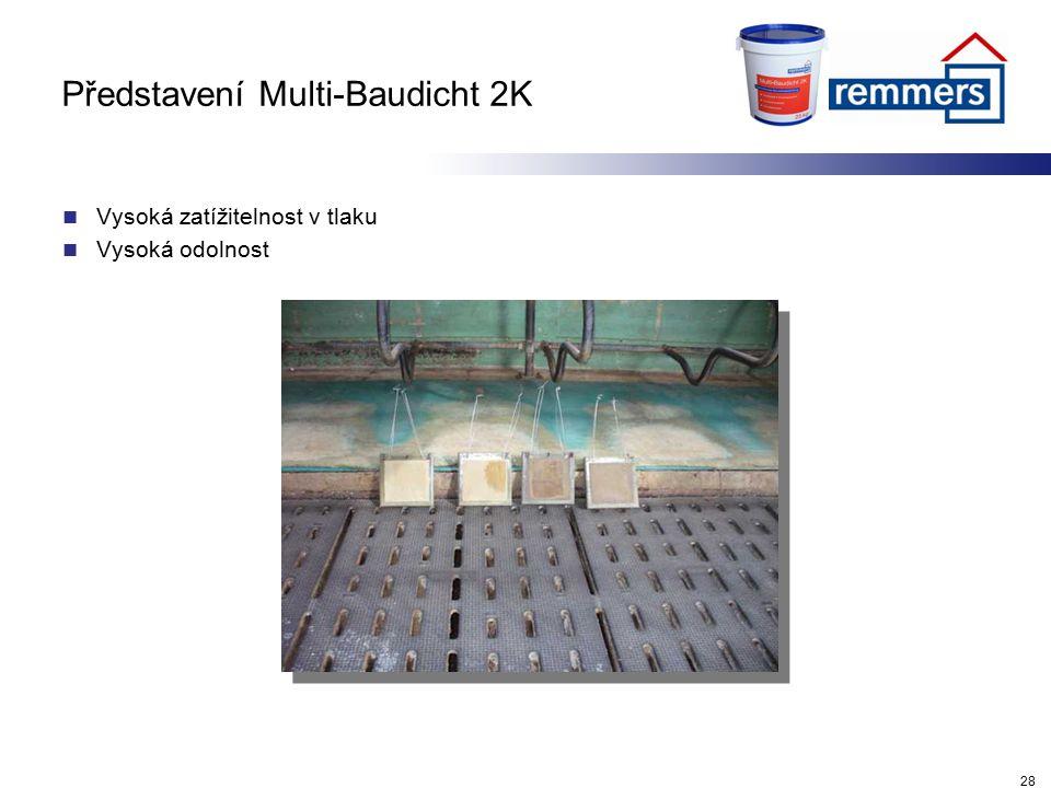 Představení Multi-Baudicht 2K Vysoká zatížitelnost v tlaku Vysoká odolnost 28