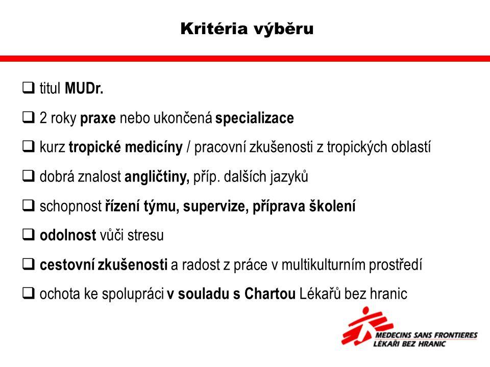 Kritéria výběru  titul MUDr.