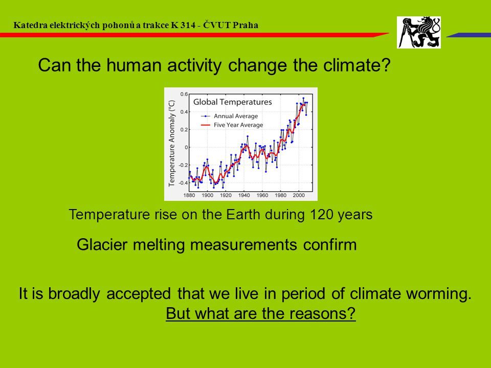 Glacier melting measurements confirm It is broadly accepted that we live in period of climate worming.