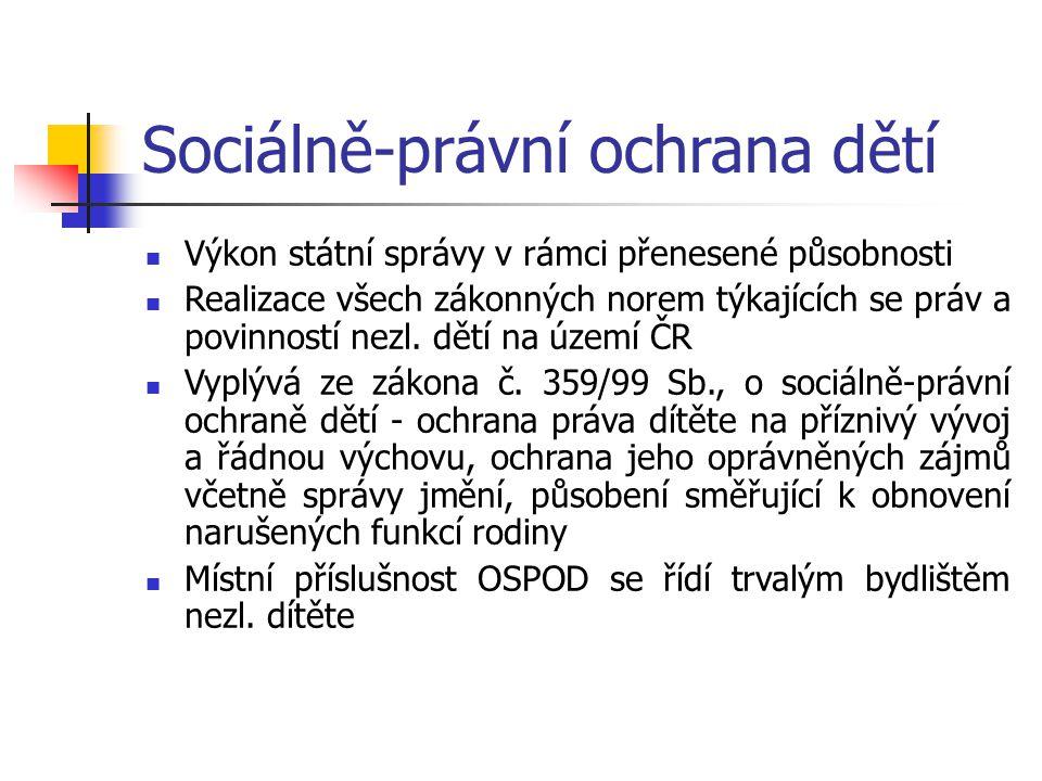 OSPOD jako koordinátor pomoci nezl.