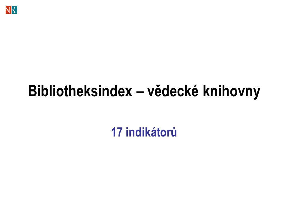 Bibliotheksindex – vědecké knihovny 17 indikátorů