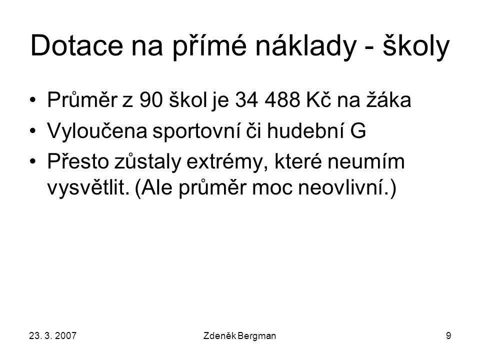 23. 3. 2007Zdeněk Bergman10 Náklady na provoz