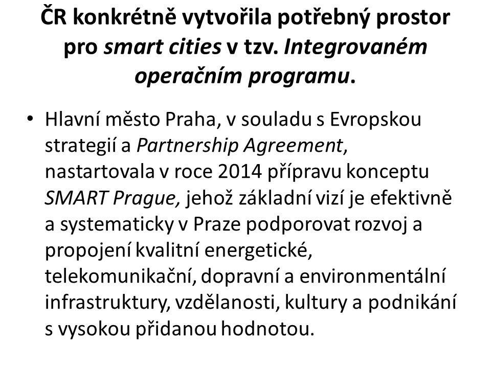 ČR konkrétně vytvořila potřebný prostor pro smart cities v tzv.