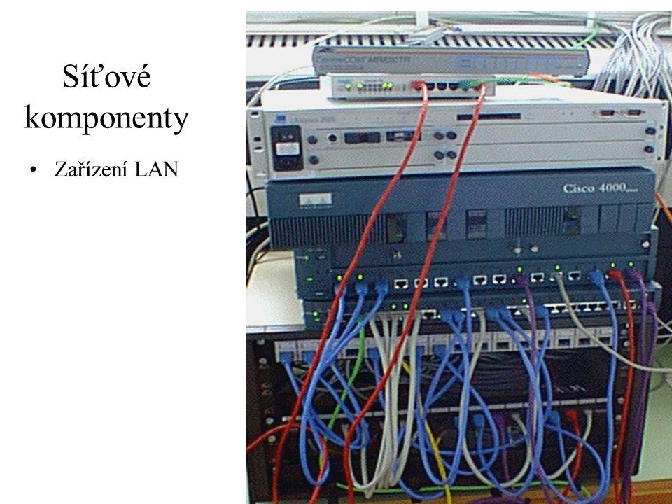 37 Síťové komponenty Zařízení LAN