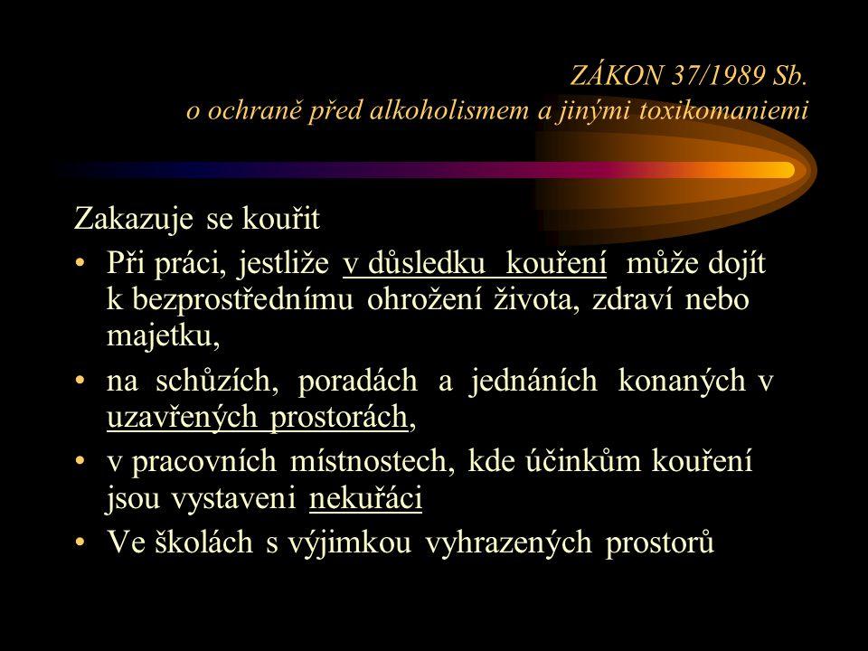 ZÁKON 37/1989 Sb.
