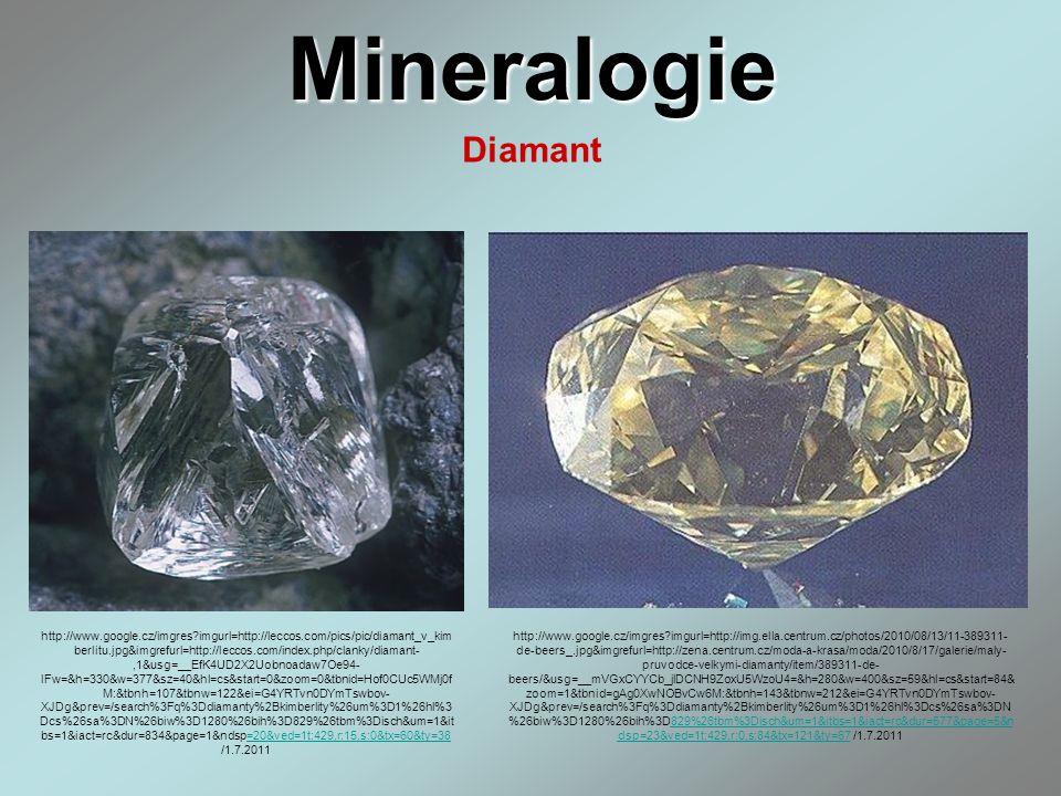Mineralogie Diamant http://www.google.cz/imgres?imgurl=http://leccos.com/pics/pic/diamant_v_kim berlitu.jpg&imgrefurl=http://leccos.com/index.php/clan