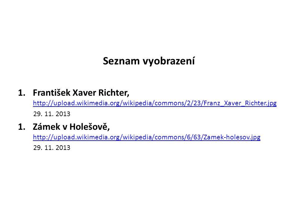 Seznam vyobrazení 1.František Xaver Richter, http://upload.wikimedia.org/wikipedia/commons/2/23/Franz_Xaver_Richter.jpg http://upload.wikimedia.org/wi
