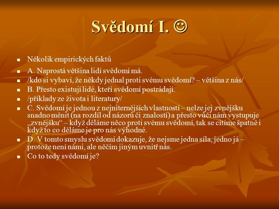 Svědomí II.Svědomí II.