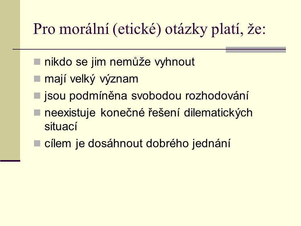 Základní morální kategorie: předporozumění dobro svědomí norma ctnost štěstí a smysl