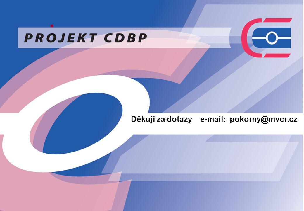 7. Děkuji za dotazy e-mail: pokorny@mvcr.cz