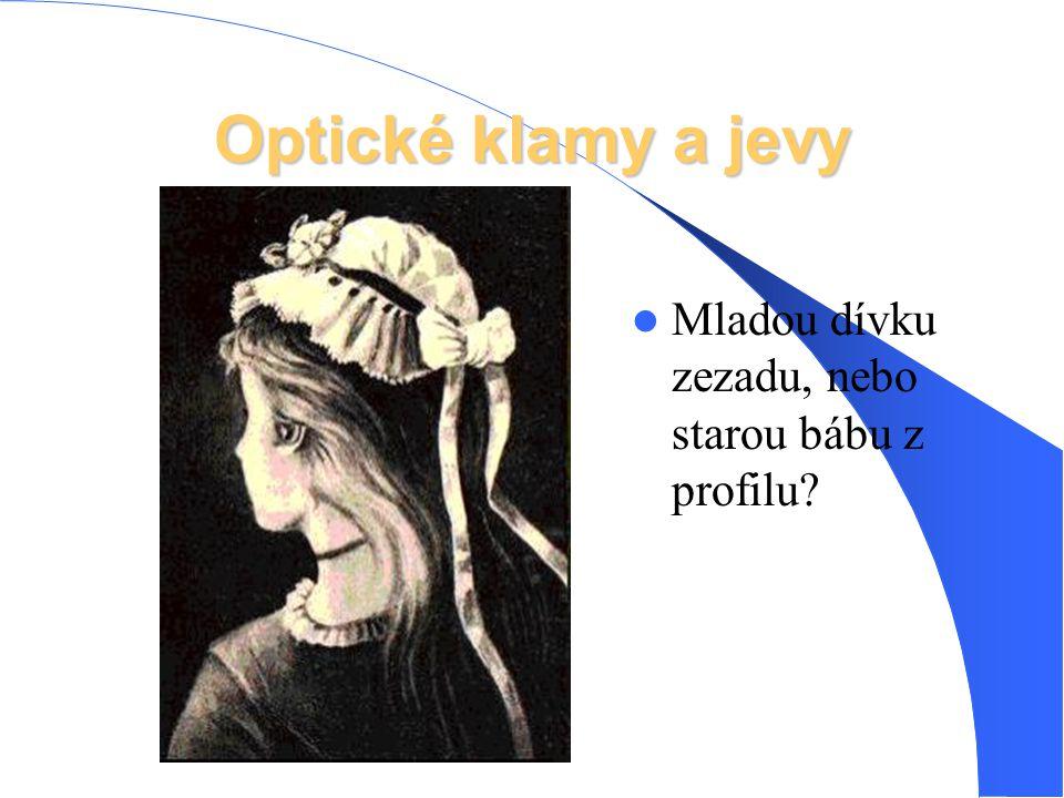 Optické klamy a jevy Mladou dívku zezadu, nebo starou bábu z profilu?