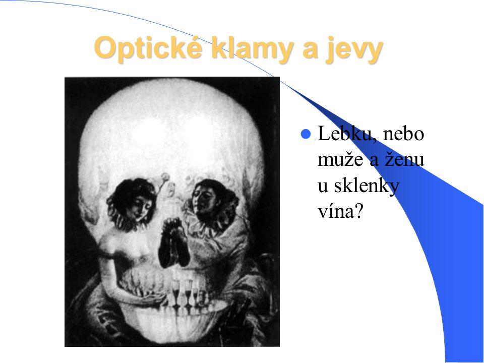 Optické klamy a jevy Lebku, nebo muže a ženu u sklenky vína?