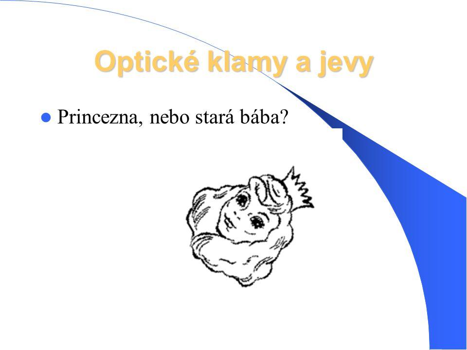 Optické klamy a jevy Princezna, nebo stará bába?
