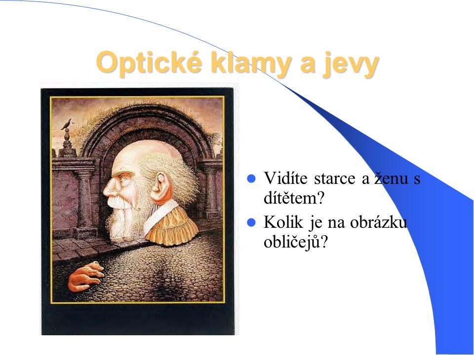 Optické klamy a jevy Vidíte starce a ženu s dítětem? Kolik je na obrázku obličejů?