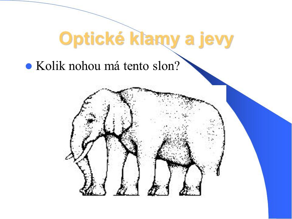 Optické klamy a jevy Kolik nohou má tento slon?