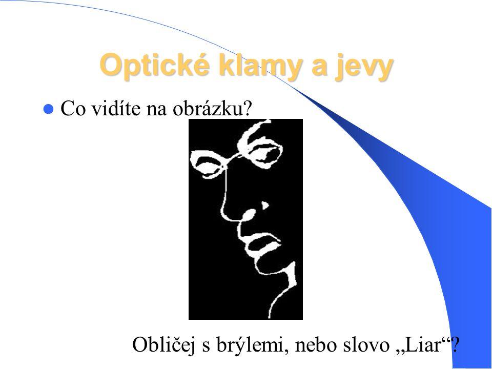 """Optické klamy a jevy Co vidíte na obrázku? Obličej s brýlemi, nebo slovo """"Liar""""?"""