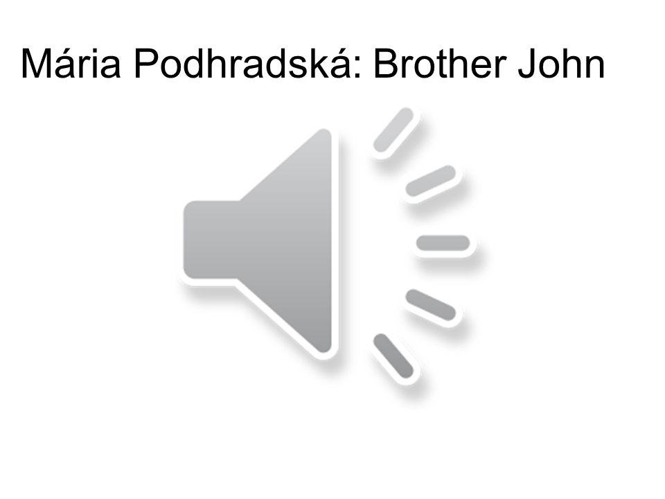 Mária Podhradská: Brother John