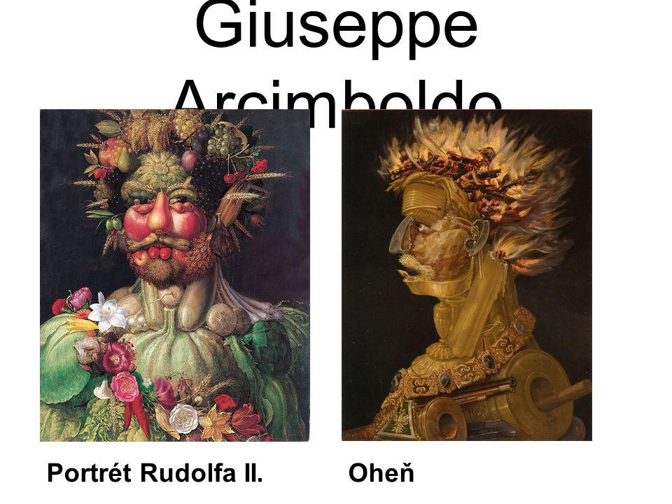 Giuseppe Arcimboldo Portrét Rudolfa II.Oheň